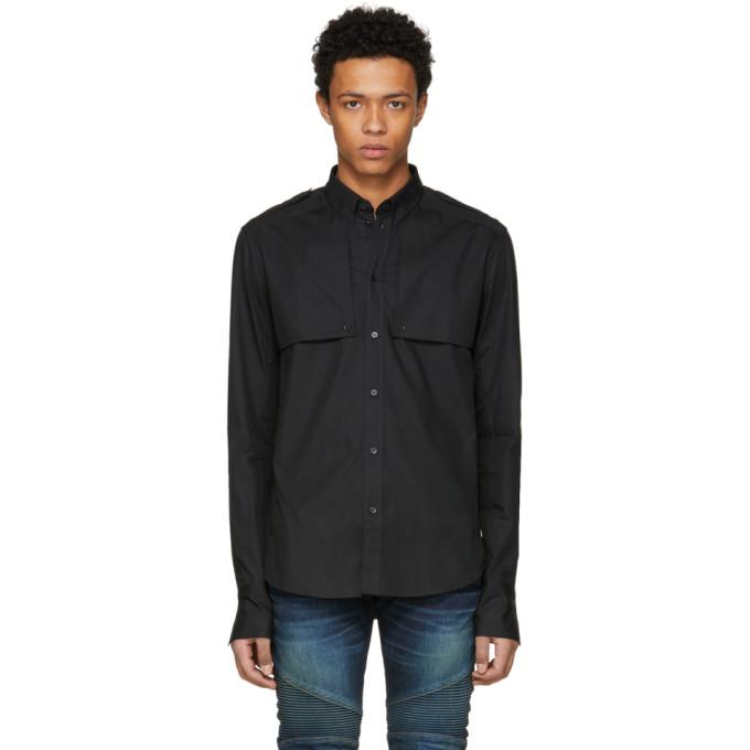Balmain Black Side Sill Shirt