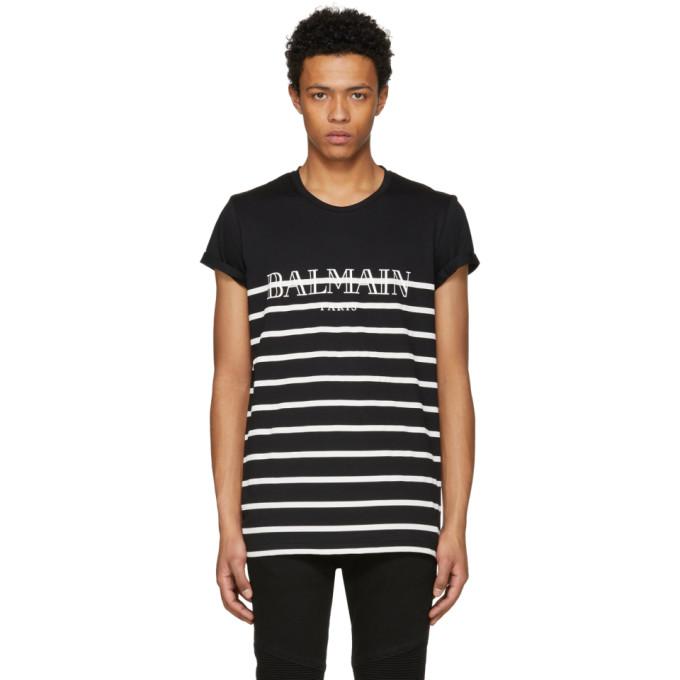 Balmain Black & White Sailor T-Shirt