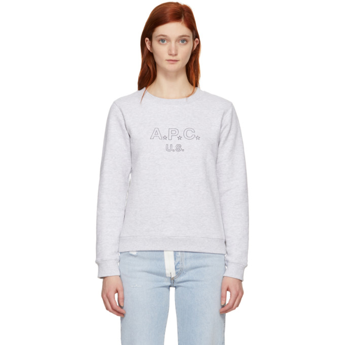 A.P.C. Grey US Sporting Sweatshirt