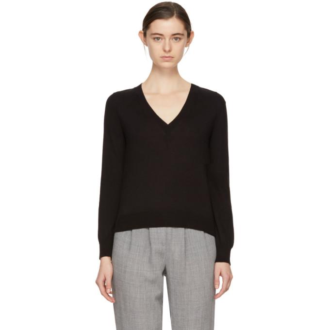 A.P.C. Black Ixelles V-Neck Pullover