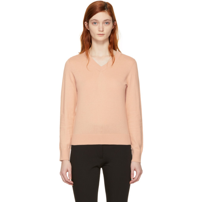 A.P.C. Pink Edina V-Neck Sweater