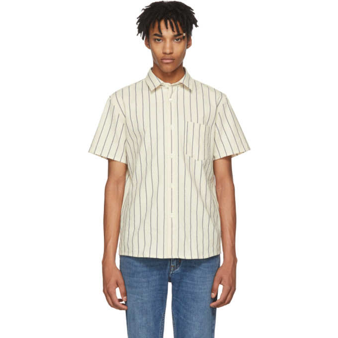 A.P.C. Off-White Striped Bryan Shirt