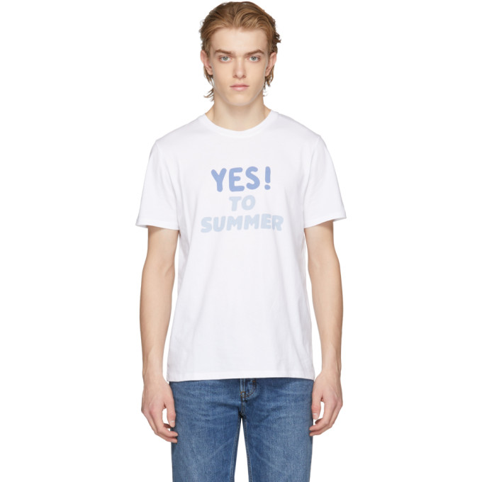 A.P.C. White Yes To Summer T-Shirt