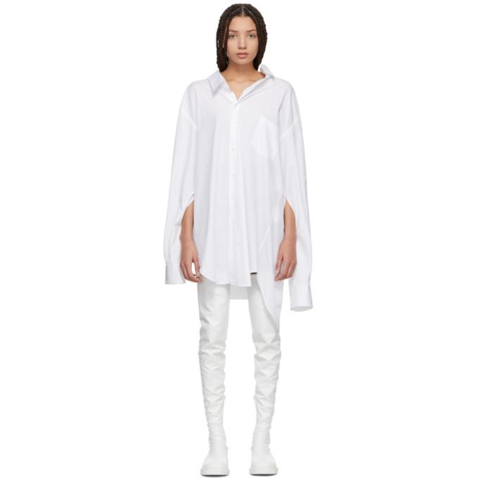 3e329e574 Junya Watanabe White Oversized Slit Sleeve Shirt Dress