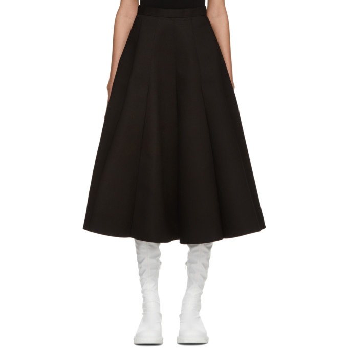 Image of Junya Watanabe Black Panelled Circle Skirt
