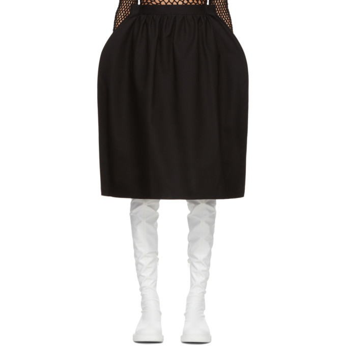 Image of Junya Watanabe Black Oversized Gathered Skirt