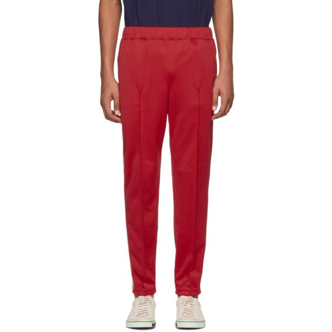 Junya Watanabe Pantalon de survêtement rouge Smooth