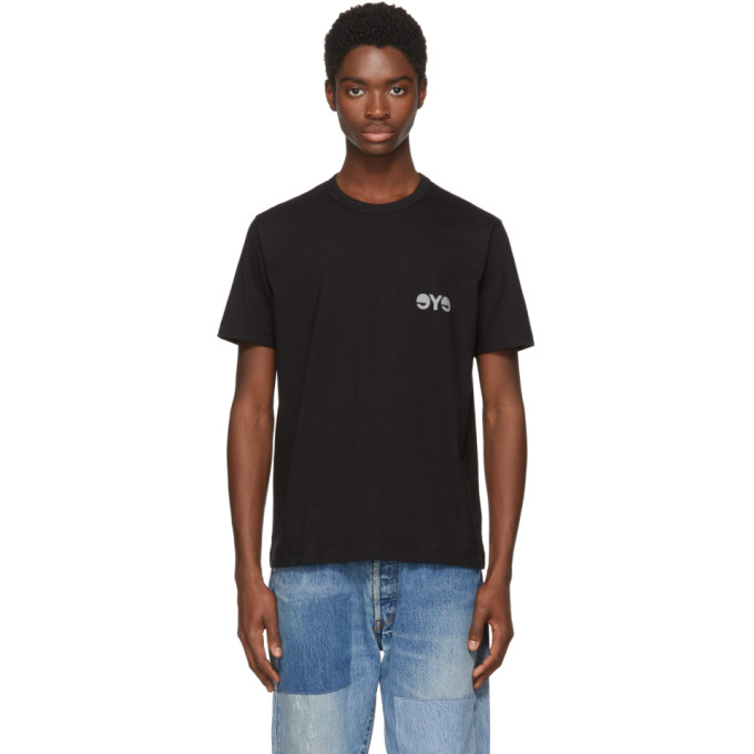 Image of Junya Watanabe Black & Grey Logo T-Shirt