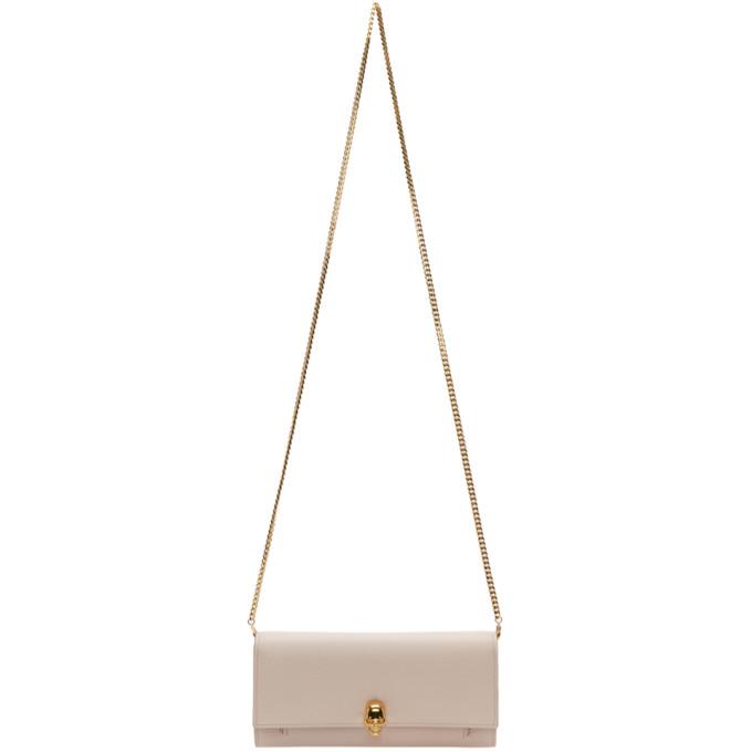 Alexander McQueen Pink Skull Wallet Chain Bag