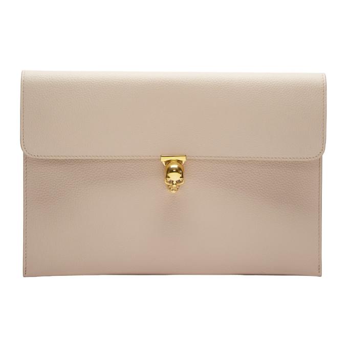 Alexander McQueen Pink Skull Envelope Clutch