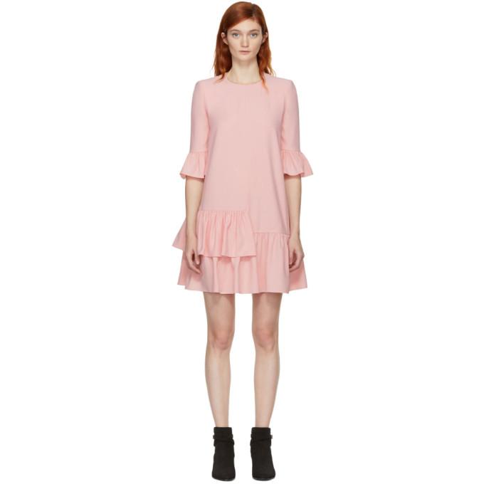 6dd530534 Alexander McQueen Pink Leaf Crepe Dress