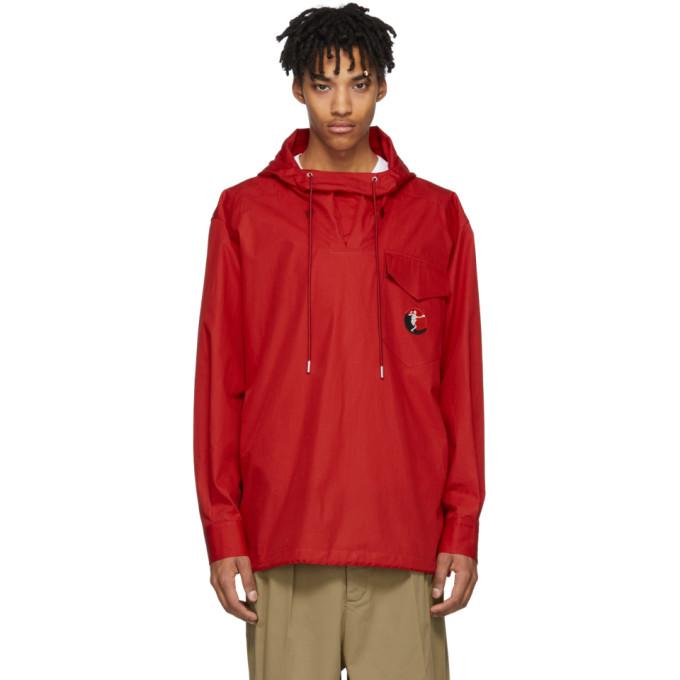 Alexander McQueen Red Anorak Jacket