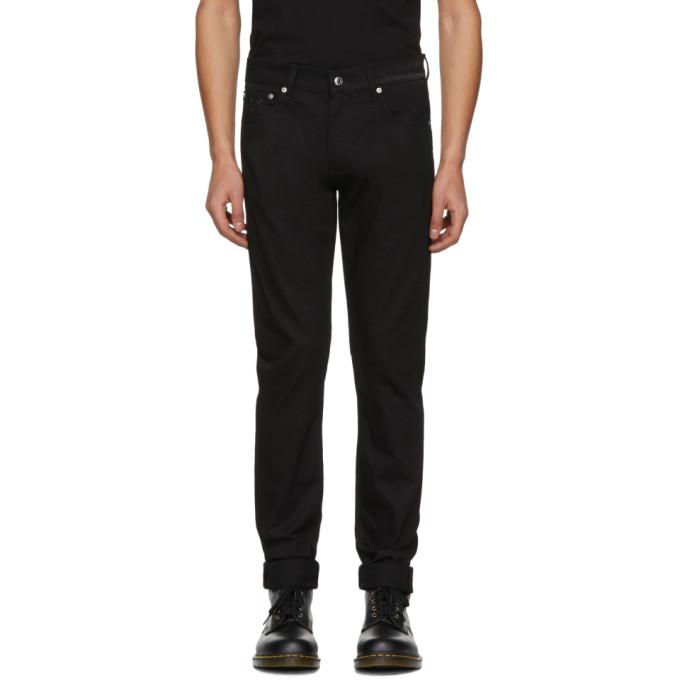 Alexander McQueen Black Dancing Skeleton Fitted Jeans