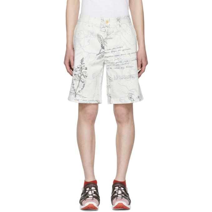 Alexander McQueen White Denim Explorer Shorts