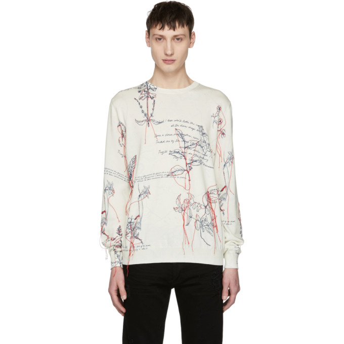 Alexander McQueen White Explorer Thread Sweater