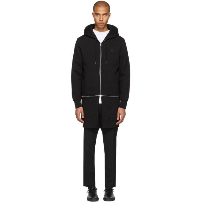 Alexander McQueen Black Detachable Zip Hoodie