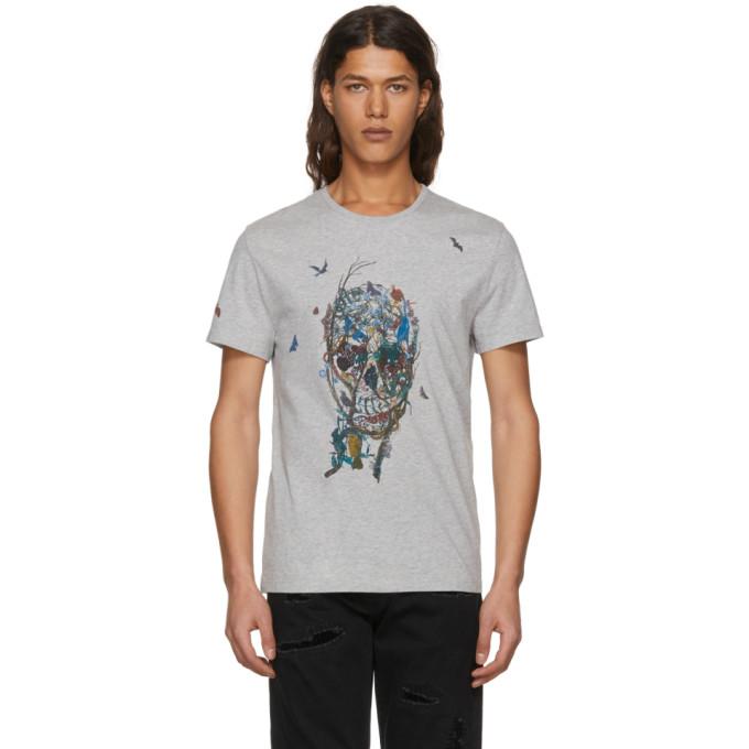 Alexander McQueen Grey Tree Of Life T-Shirt