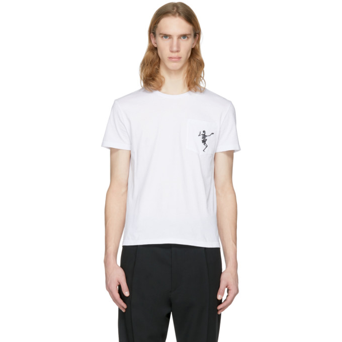 Alexander McQueen White Dancing Skeleton T-Shirt