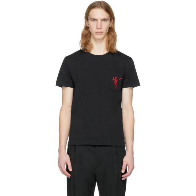 Alexander McQueen Black Dancing Skeleton T-Shirt