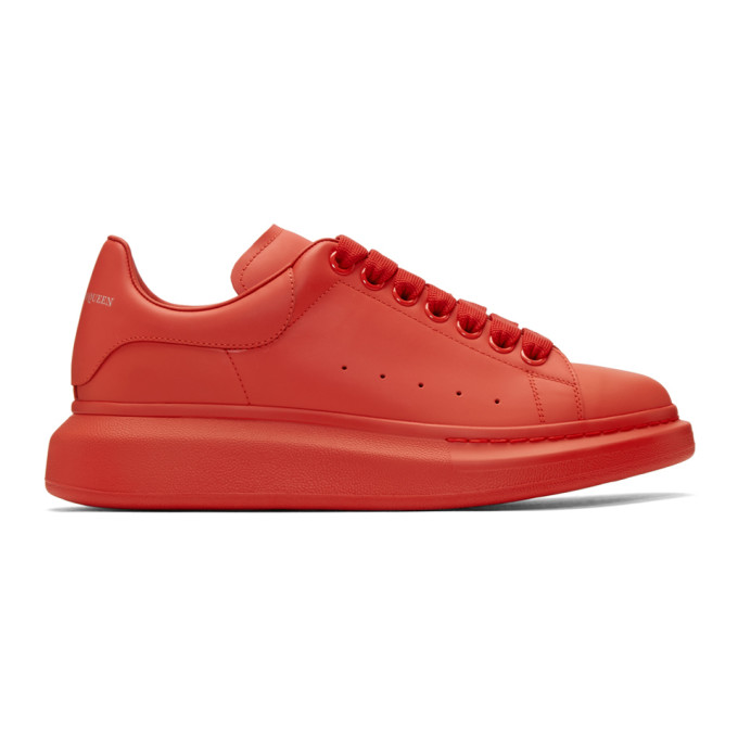 Alexander McQueen Red Oversized Sneakers