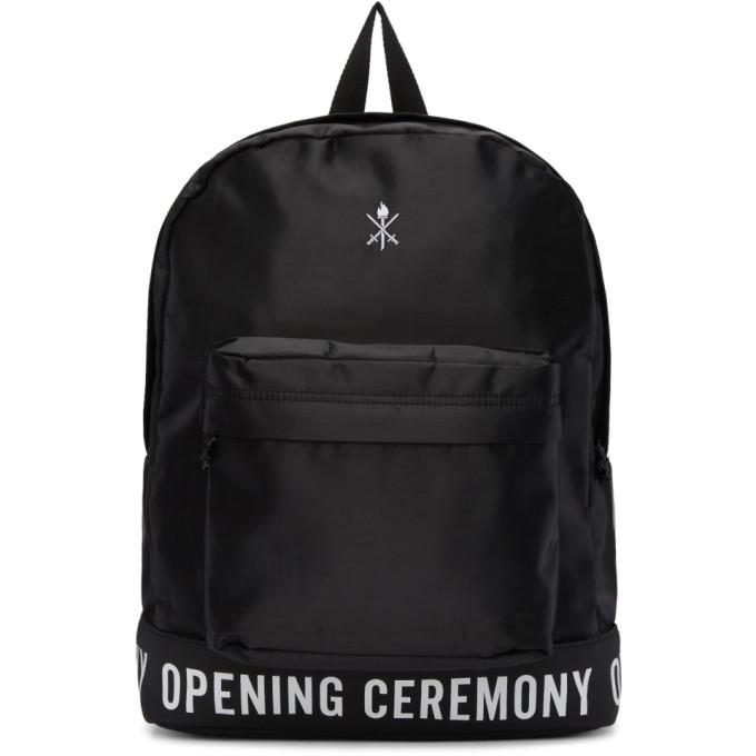 Opening Ceremony Black Logo Backpack