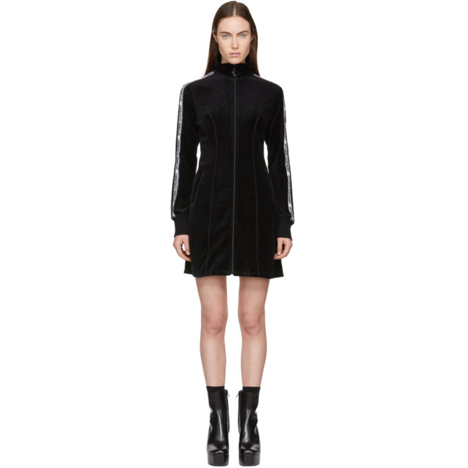 Opening Ceremony Black Limited Edition Velour Track Dress