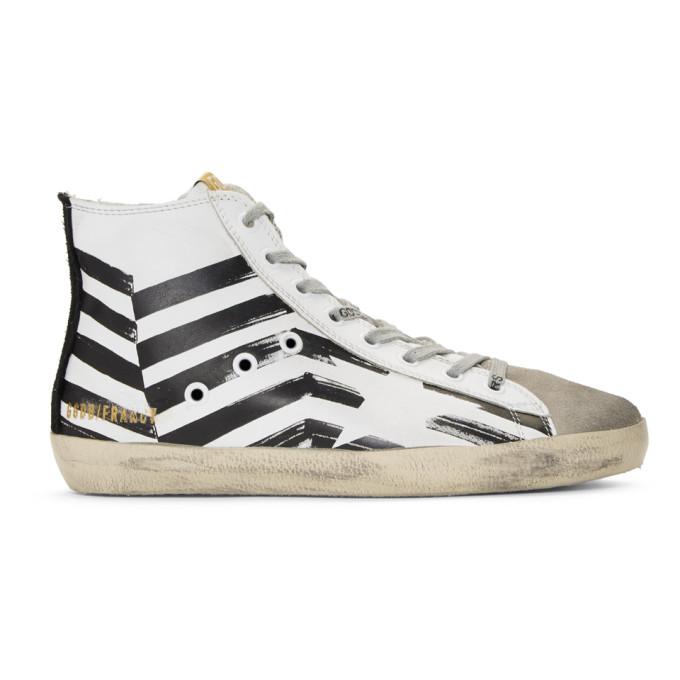 Golden Goose White Flag Francy High-Top Sneakers