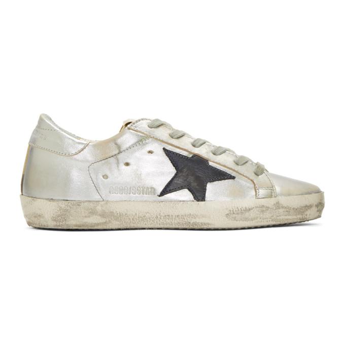 Golden Goose Silver & Gold Superstar Sneakers
