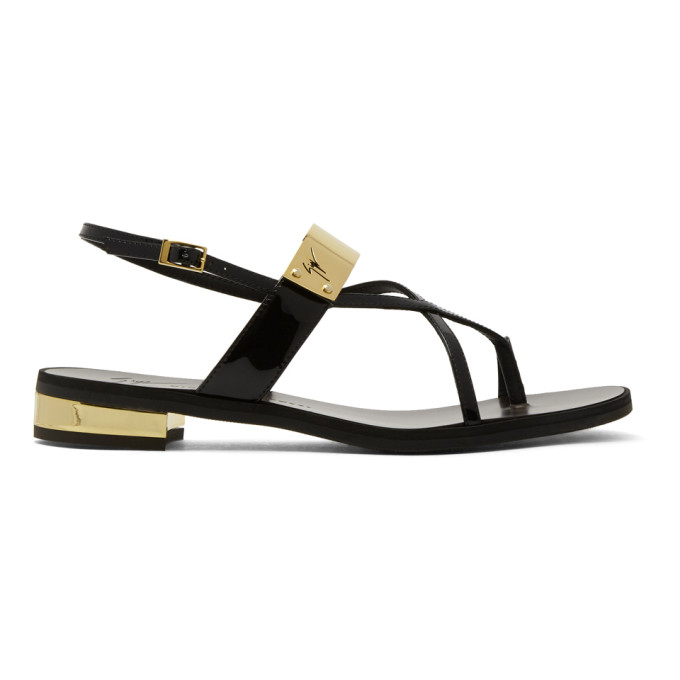 Image of Giuseppe Zanotti Black Bughi Sandals
