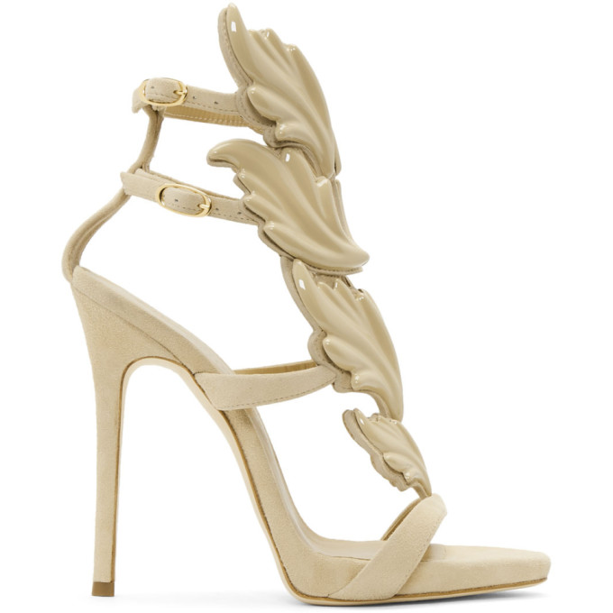 Image of Giuseppe Zanotti Beige Coline Wings Sandals