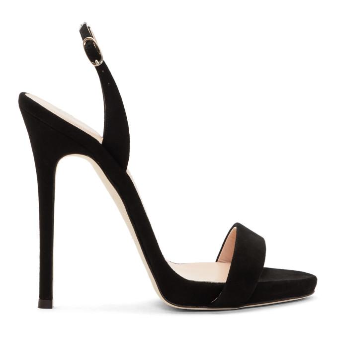 Image of Giuseppe Zanotti Black Coline Plunge Sandals