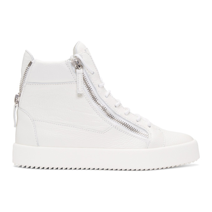 Giuseppe Zanotti White May London High-Top Sneakers