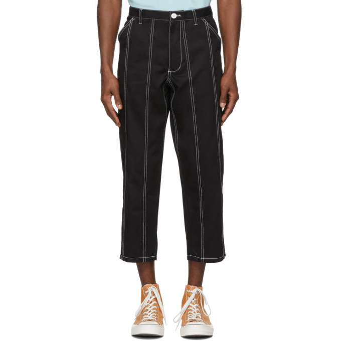 Image of Comme des Garçons Shirt Black Drill Trousers