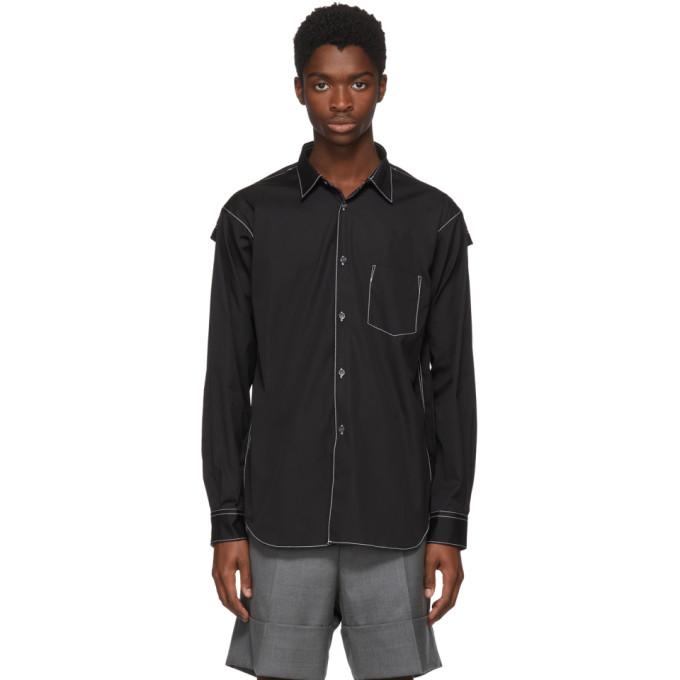 Image of Comme des Garçons Shirt Black Cotton Poplin Shirt