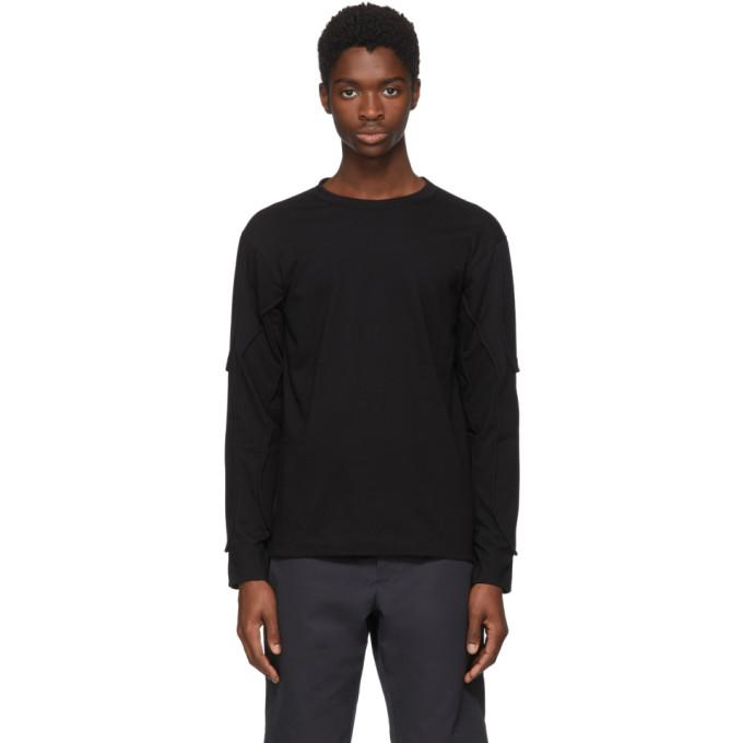 Image of Comme des Garçons Shirt Black Long Sleeve Padding T-Shirt