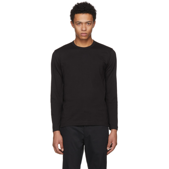Image of Comme des Garçons Shirt Black Long Sleeve Basic T-Shirt