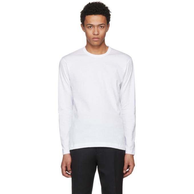 Comme des Garçons Shirt ホワイト ロング スリーブ ベーシック T シャツ