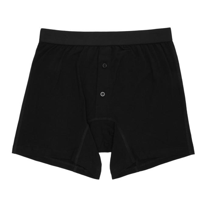 Comme des Garçons Shirt Boxer noir Plain Button Down