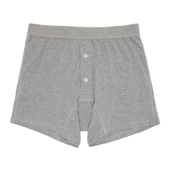 Comme des Garçons Shirt Boxer gris Plain Button Down