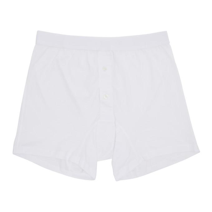 Comme des Garçons Shirt Boxer blanc Plain Button Down