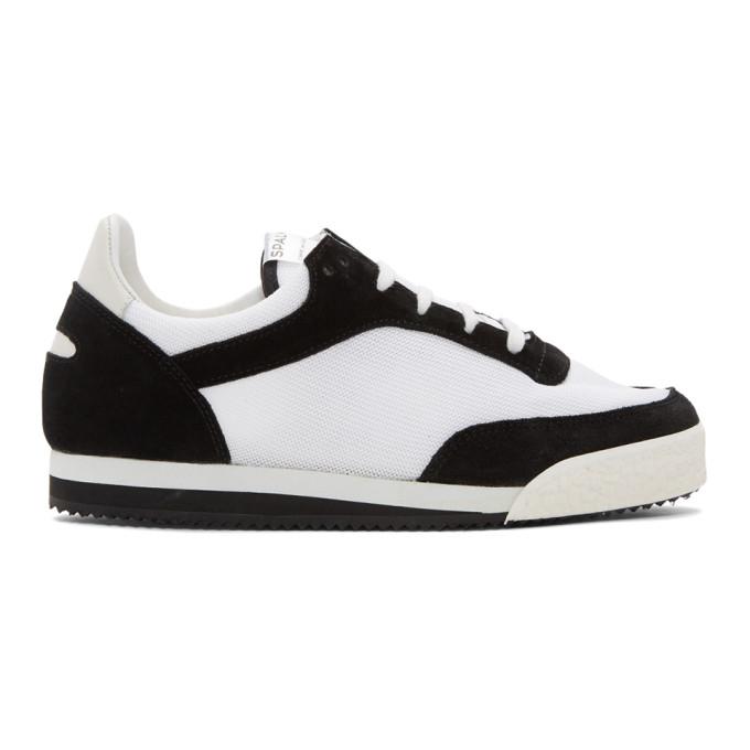 Comme des Garçons Shirt ブラック & ホワイト Pitch ロー スニーカー