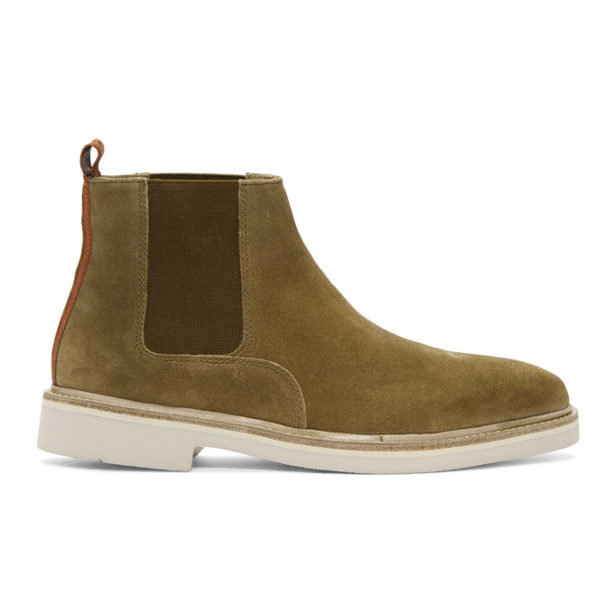 Image of H by Hudson Tan Suede Gallant Chelsea Boots