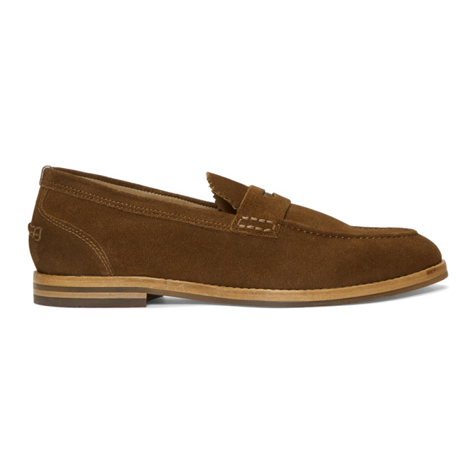 Image of H by Hudson Tan Suede Romney Loafers