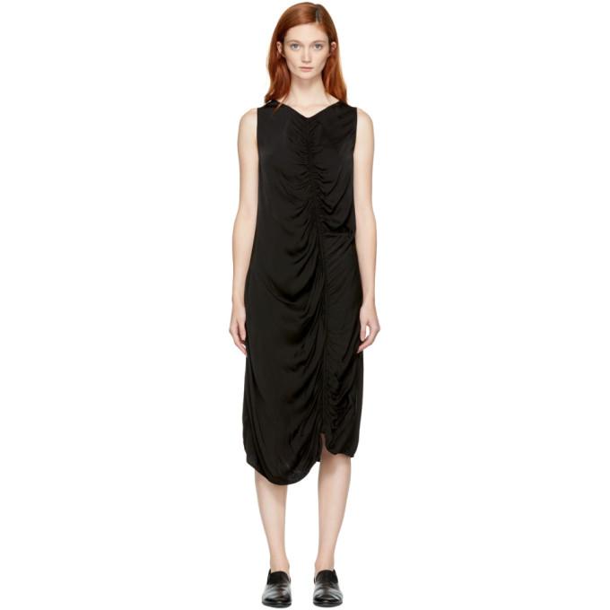 Image of Raquel Allegra Black Liquid Satin Dress