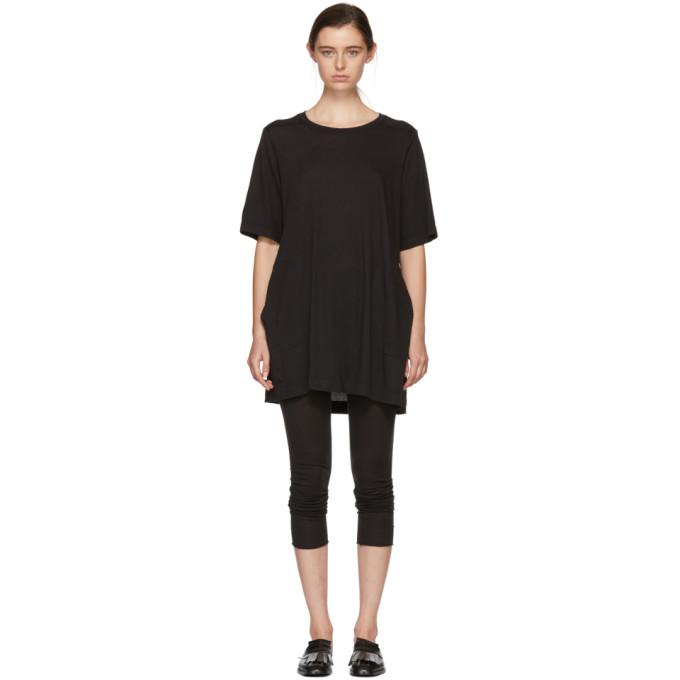 Image of Raquel Allegra Black T-Shirt Dress