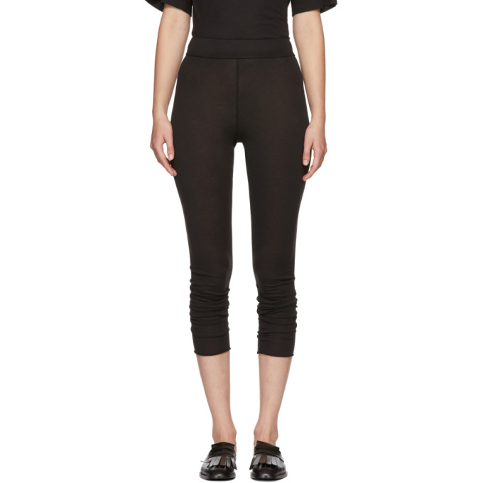 Raquel Allegra Black Signature Jersey Leggings