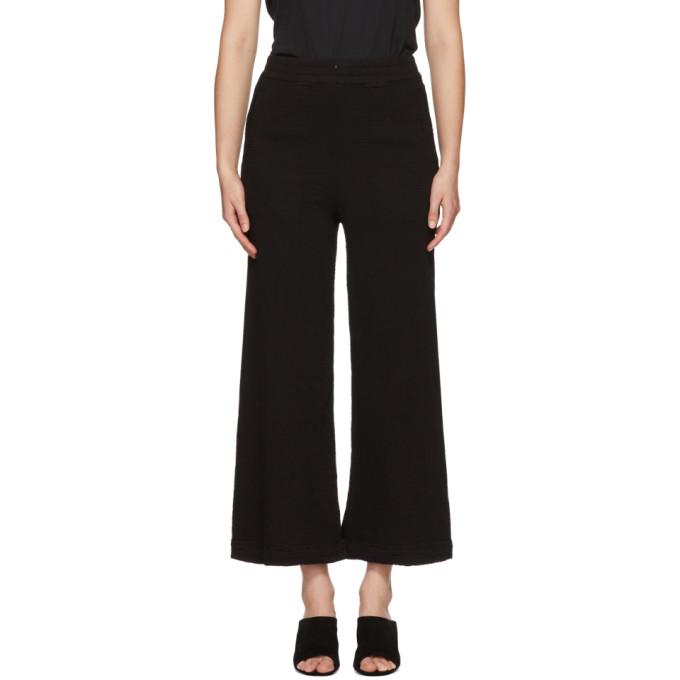 Image of Raquel Allegra Black Wide-Leg Lounge Pants