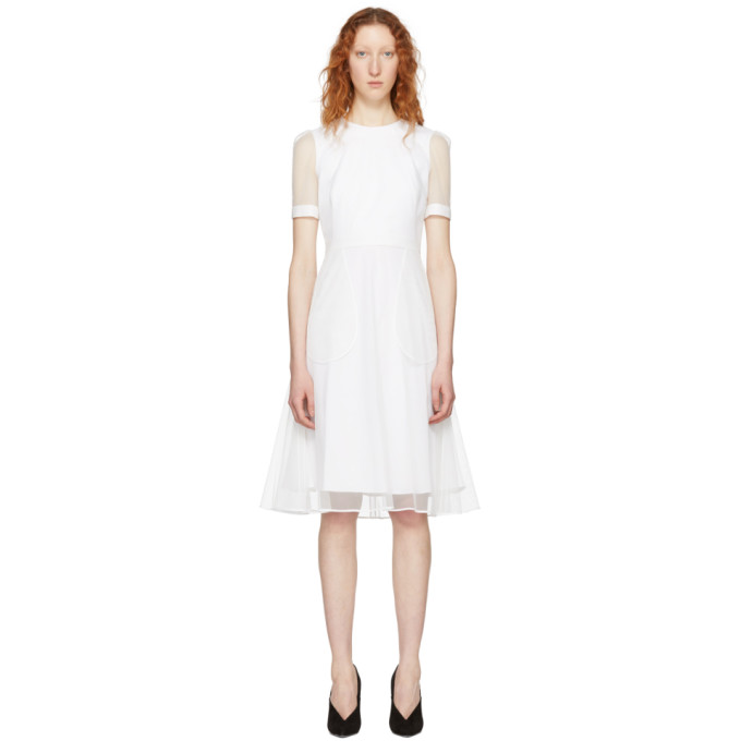 Givenchy White Layered Tulle Dress
