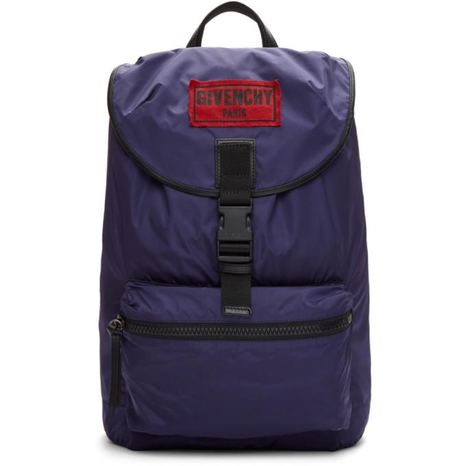 Givenchy Navy Nylon Obsedia Backpack