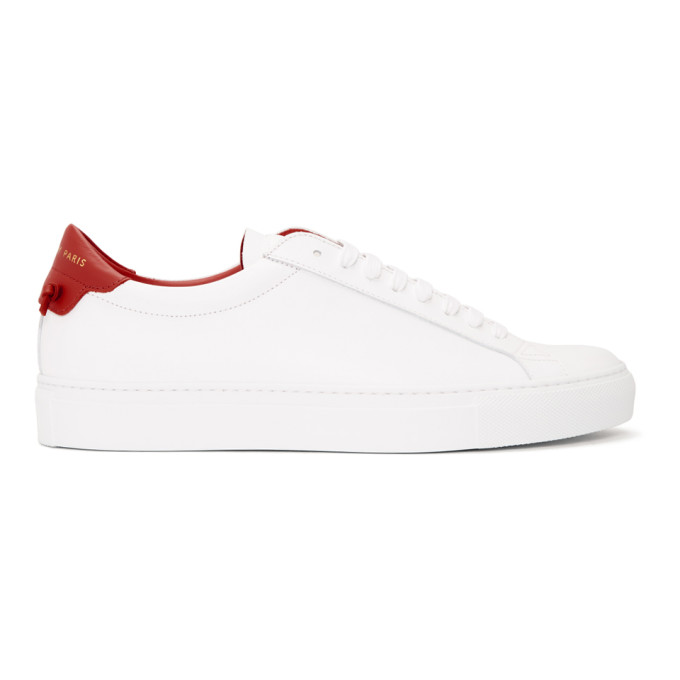Givenchy White & Red Urban Knots Sneakers